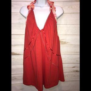 NEW Lane Br͏y͏ant Orange Tie Dye Halter Top-Sz 24